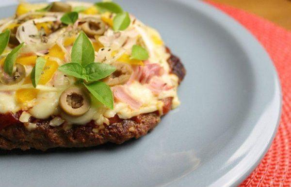 Almoço Low Carb carne moída