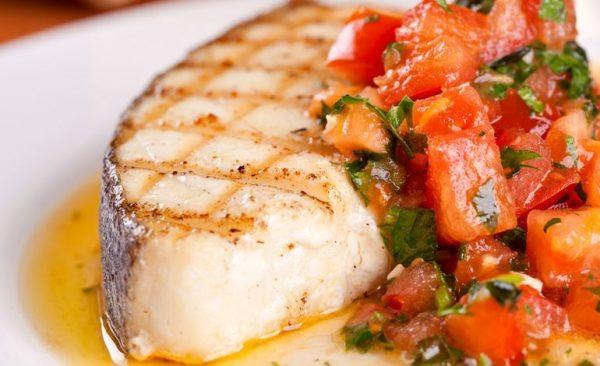Almoço Low Carb com peixe